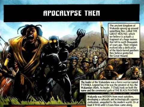 T'Chaka as the Black Panther