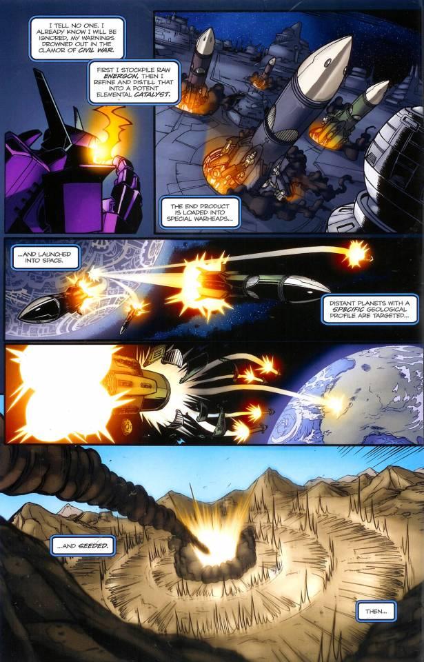 Shockwave implements his regenesis plan.