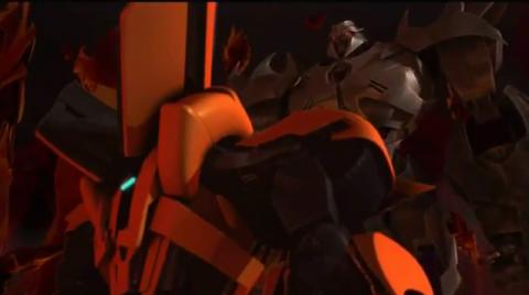 Bumblebee encounter's Megatron while inside of Megatron's mind