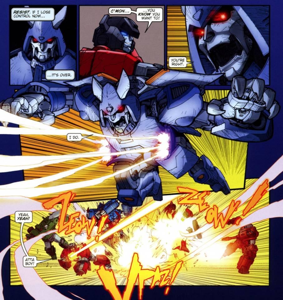 Cyclonus confronts the Autobots on Corata-Vaz