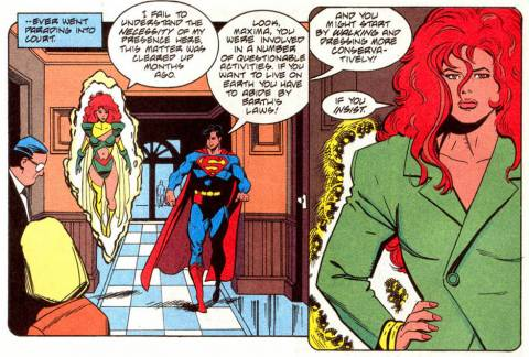 Maxima transmutes her costume.
