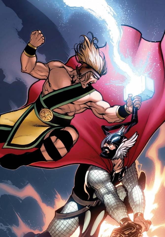 Hercules and Thor switch roles and fight