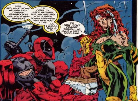 Wade's one-sided love affair with one-time flame, Siryn.