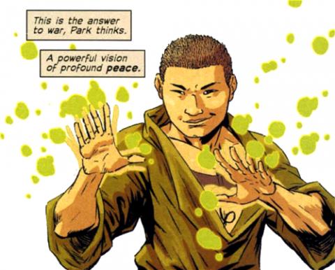 Li Park's hypnotic fist technique