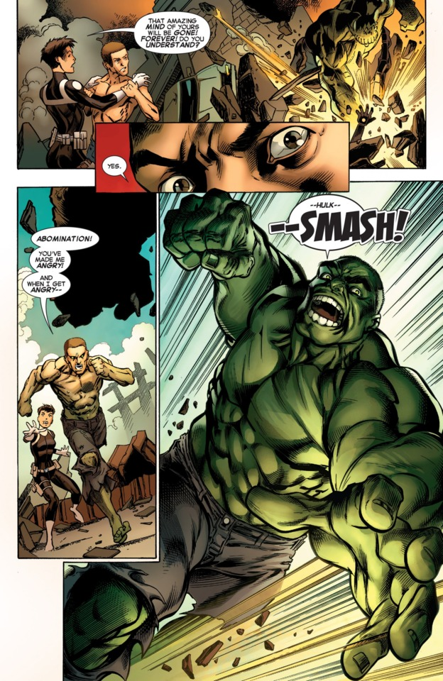 When the Hulk became the main drive, or focus, of the issue; things got better immediately!