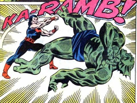 Tyrannus battling Wonder Man