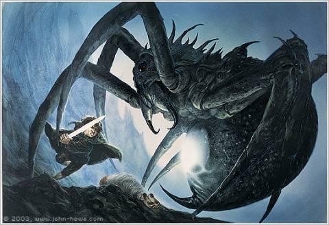 Sam vs Shelob by John Howe