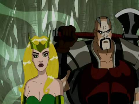 Amora and Skurge in Avengers: EMH