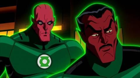 Abin Sur and Sinestro in Green Lantern: Emerald Knights