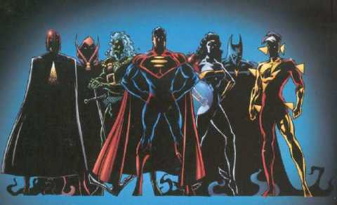 The Justice Legion during DC One Million
