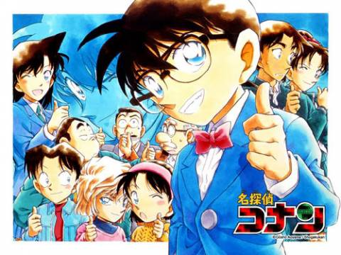 Jimmy Kudo (as Conan) and his friends
