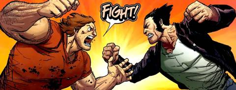 Fighting Wolverine