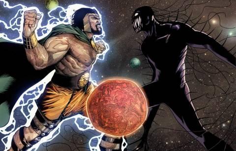 Sky-Father Hercules vs Chaos King Mikaboshi