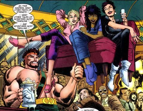 Hercules - Drinking & charming the ladies