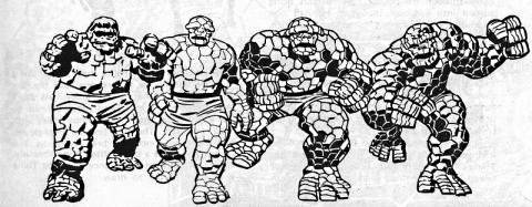 The Thing's mutational progression.