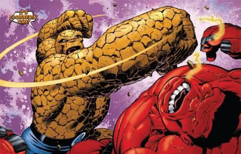 Ben fights Red Hulk as an Avenger