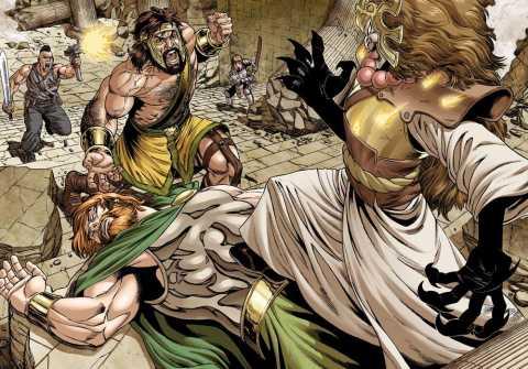 Zeus Falls and Olympus dies.