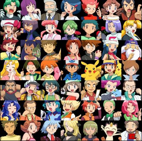 Ash's Family, Friends and Foes.