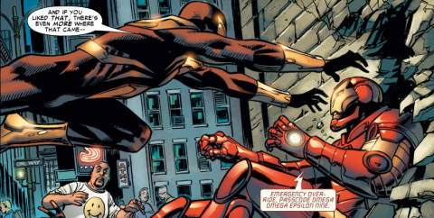Line 11-Peter v.s Tony Spider-man v.s Iron-man