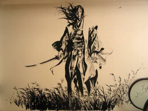 The Vagabond Mural, Kinokuniya, New York