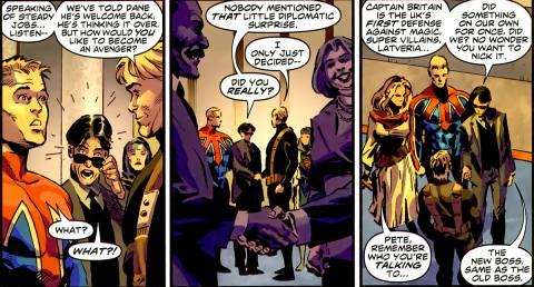 Steve Rogers offers Brian Avengers membership