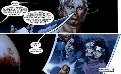 Magneto learns about his 'grand-sons'
