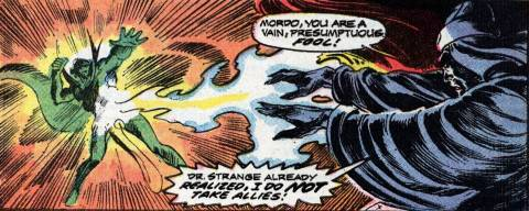 Baron Mordo is attacked by Sise-Neg