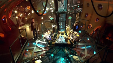 Doctor and Amy in the TARDIS