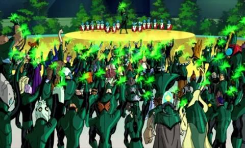 Green Lantern Corps in First Flight