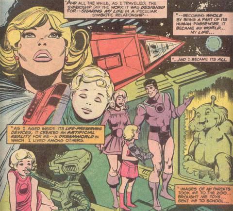 Power Girl's virtual upbringing