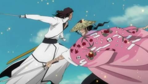 Shunsui battles Starrk