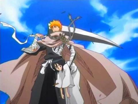 Ichigo Finally Saving Rukia