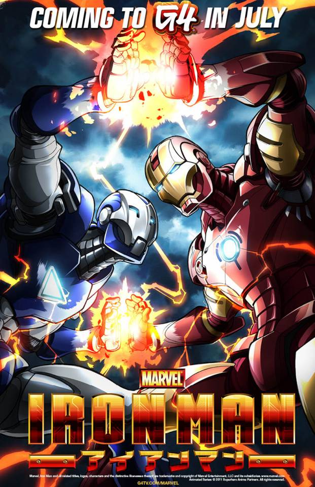 Poster for Marvel Anime: Iron Man, Featuring Iron Man and Iron Man Dio