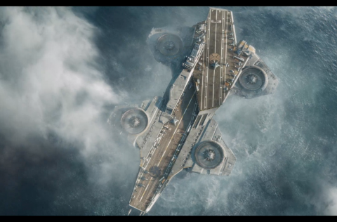 The Helicarrier in The Avengers movie
