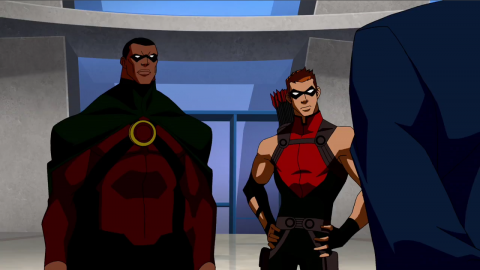 Icon with Red Arrow in Young Justice