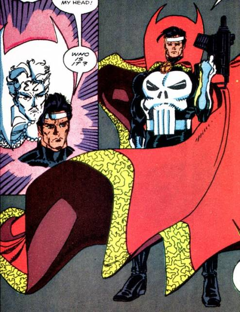 The Punisher gains Dr. Strange's powers