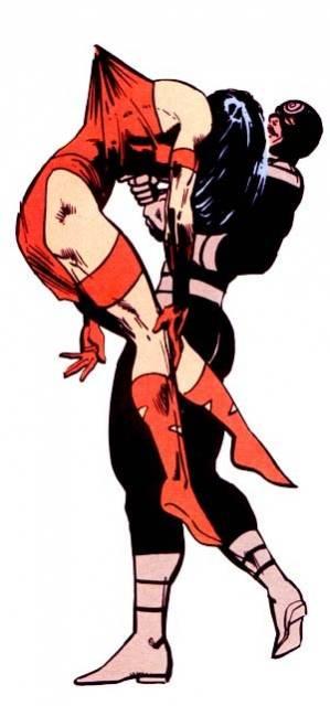 Bullseye kills Elektra with her own Sai
