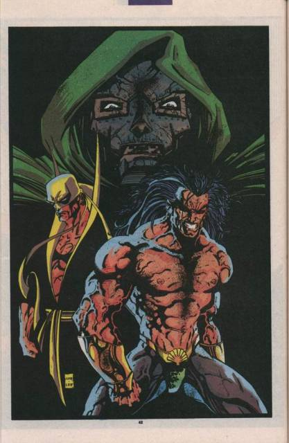 Iron Fist helps Namor regain his memory, while Dr. Doom presides.