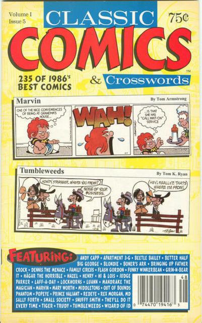 Classic Comics & Crosswords