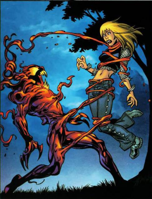 Gwen's tragic death in the hands of Carnage