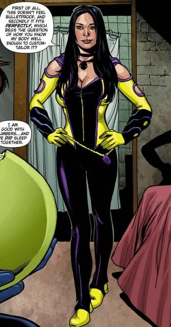 Jennifer dons her new costume
