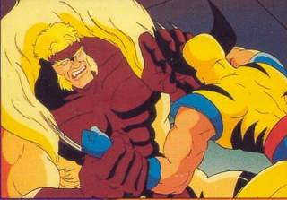 Sabretooth in the first cartoon