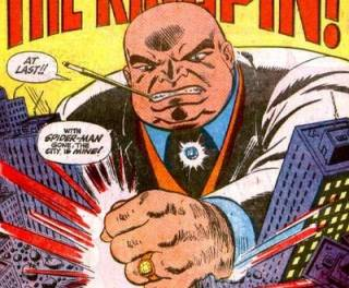 With Spider-man retired, Kingpin instantly grabbed the opportunity of uniting all crime under his control.