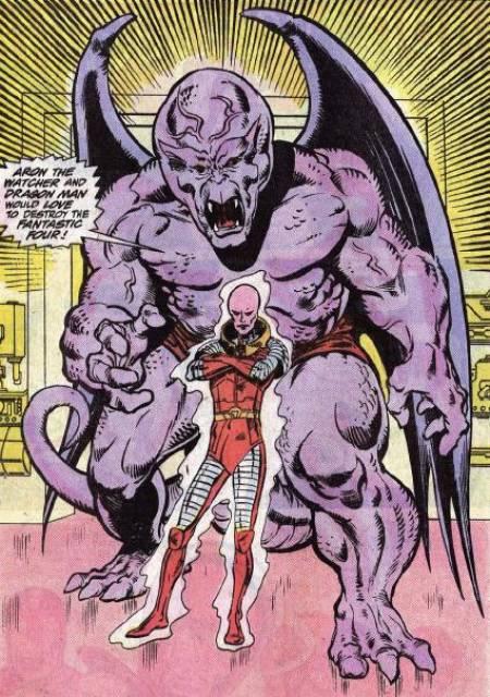 Dragon Man with Aron the renegade Watcher.