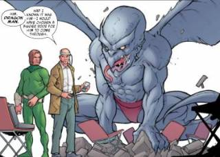 Dragon Man is a mental slave for the Puppet Master & Mad Thinker.