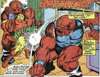 The Blood Brothers beat on Iron Man.