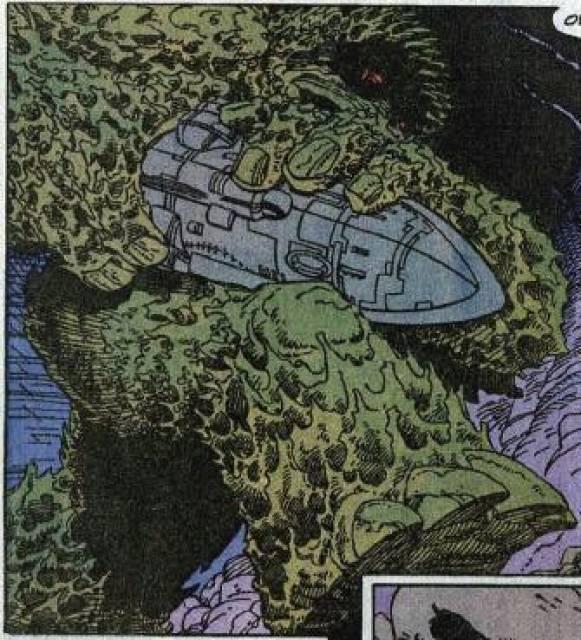 Giganto carrying Skrull Ship