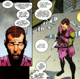 Normie talking to May about the Spider-Goblin War.