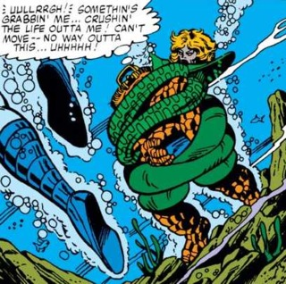 Anaconda battles the Thing.