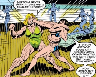 Anaconda battles Quicksand aboard Superia's ship.
